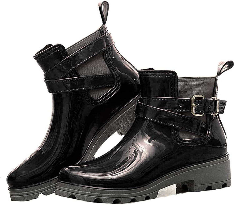 Eric bill Woherrar Round Toe Ankle Boot Boot Boot svart blå röd Rain Boot  känt märke