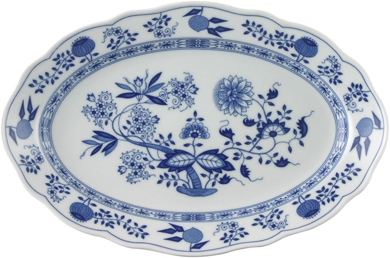 Hutschenreuther 02001-720002-12735 Zwiebelmuster Platte, 35 cm, oval, blau