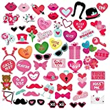 Valentine's Photo Booth Props for Parties and...