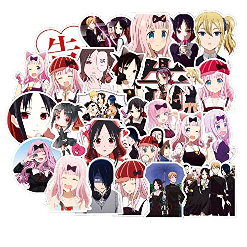 DUOYOU Kaguya Sama: Love Is War Anime Pegatina Fujiwara Chika Nueva Cabina Kaguya Coche Adhesivo Portátil Maleta Skateboard Calcomanía 50pcs