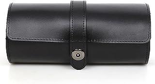 Ganghuo Boîte de rangement ronde pour montres - En polyuréthane - Étanche - Anti-poussière - Anti-chute - Grande capacité...