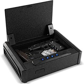 RPNB Gun Security Safe, Quick-Access Firearm Safety Device with Biometric Fingerprint or..