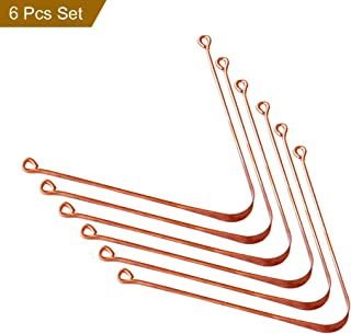 HealthAndYoga(TM) Copper Tongue Cleaners - Relief from Bad Breath - Oral Hygiene (Set of 6)
