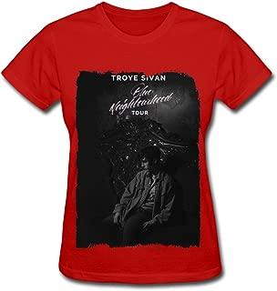 D&A Da Troye Sivan Blue Neighbourhood Tour 2016 T Shirt For Women Black