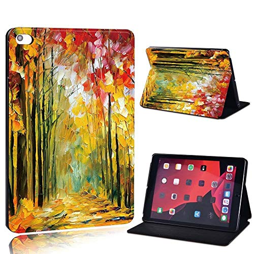 lingtai For Ipad 2 3 4 5 6 7/Air 1 2 3/Pro 11 2018 2020 Pu Leather Tablet Stand Folio Cover Ultrathin Painting Colors Slim Case (Color : Fores, Size : 8th Gen (2020))