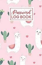 Password Log Book: Llama Cactus Pattern   Internet Password Keeper Journal   Online Username Login Notebook Organizer   Hand Lettered Script Calligraphy