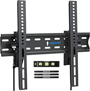 MOUNTUP Tilting TV Wall Mount Bracket for 26-55 Inch Flat Screen TVs/ Curved TVs, Low Profile TV Wall Mount TV Bracket - E...