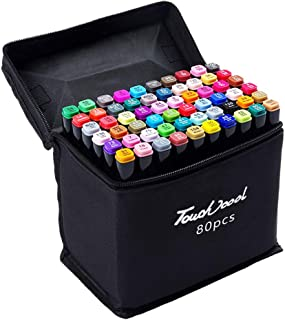koowaa 40 colores Dual Head Pen marcador Set, Alcohol Graphic Marker Pen Set, Sketch