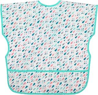 LuDa Toddler Feeding Bibs Apron Waterproof Burp Cloths Sleeveless Saliva Towel - Raindrop M, others