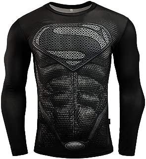 Avengers Super Heroes Men Long Sleeve Compression T-Shirt Fitness Tops