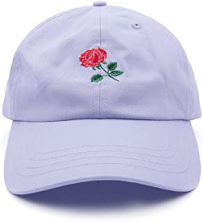 AUNG CROWN Rose Embroidered Dad Hat Women Men Cute Adjustable Cotton Floral Baseball  Cap f7bdc27ae1ee