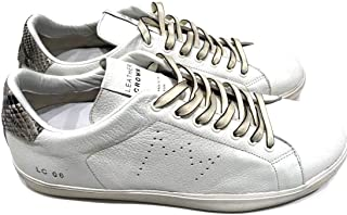 a5f75eb05e06 Leather Crown Men Shoes MLC06 Bianco in Pelle E Pitone Misura 39