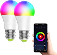 TECHVIDA Smart LED Bulb, WiFi Smart Bulbs Timer 6000K 6.5W Dimmable Smartphone Color Controlled Warm White Light - 16 Mill...
