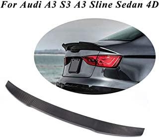 JC SPORTLINE A3 S3 RS3 CF Trunk Lip, fits Audi A3 S3 A3 Sline Sedan 2014-2019 Carbon Fiber Rear Deck Lid Trunk Boot Spoiler