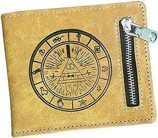 Levin_Art Anime Gravity Falls Bill Cipher PU Wallet Purse Handbag Bag Button Layers Money Coin Holder Otaku Costume Cosplay Gift