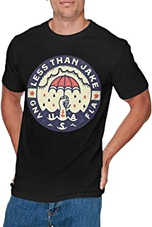GEORGE MANNING Mens Fashion Less Than Jake T-Shirt Black