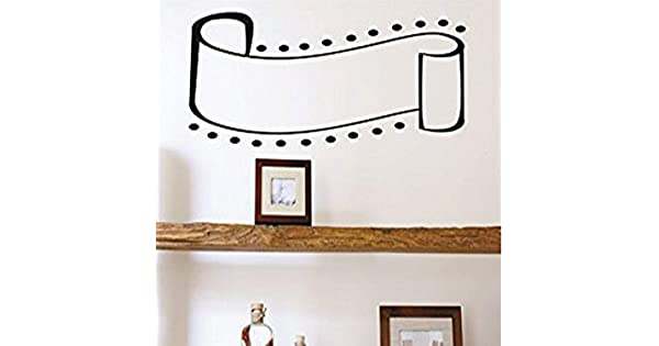 Black Design with Vinyl RAD 1146 1Curved Ribbon with Dots Sidings Design Silhouette Vinyl Wall Decal 10 x 20