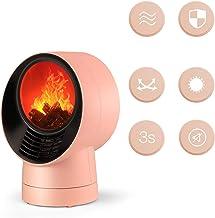 MYRCLMY Calentador Calentador De Ventilador Eléctrico, Quick-Calefacción Chimenea Compacta, 3D Casa Llama Calentador, Escritorio De Oficina Pequeña Estufa De Ahorro De Energía, Oficina Compartida