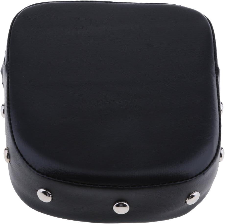 Kesoto Black Large-scale sale Motorcycle Backrest Sissy shopping Cushion for Pad Suzuk Bar