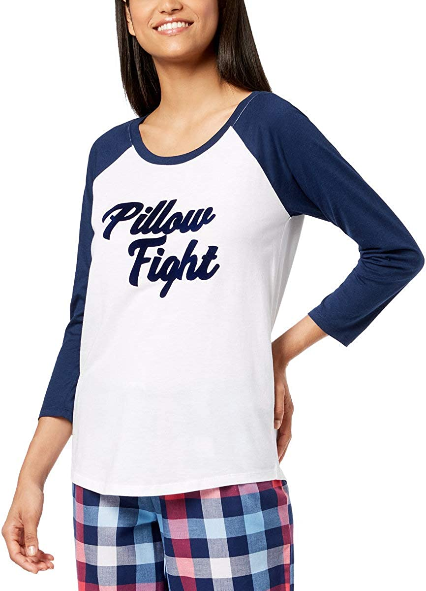 Jenni Raglan-Sleeve Houston Mall Graphic Pajama Natural L Top Same day shipping