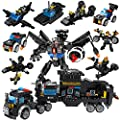 Lucky Doug 701PCS Building Bricks Set, 26 in 1 Police Car Building Toys Can Build Transformers Heavy-Duty Cars, Classic Creative Building Blocks Set Compatible with All Major Brands for Kids Ages 6+ by Lucky Doug