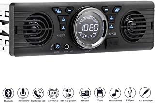 PolarLander Universal 1 Din 12V in-Dash Car Radio Audio Player Built-in 2 Speaker Stereo FM Support Bluetooth with USB/TF ... photo