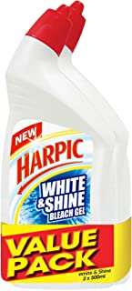Harpic White and Shine Active Cleaning Gel, 500 milliliters (Pack of 2)
