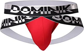 Dominik Cotton Jock Straps Underwear, Mens, Black, White, Red, Green & Blue Colors