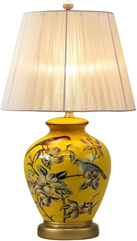 Tischlampe QFFL Ländliche Retro Keramik Schlafzimmer Nachttischlampe Kreative Moderne Nachtlicht (5 Farben erhältlich) (Farbe   A) B078FT8RPN     | Sehr gelobt und vom Publikum der Verbraucher geschätzt