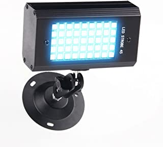 Mini Strobe Light, Sound Activated Stage Light 45 RGB LEDs Super Bright DJ Light for Holiday Party Halloween Christmas Birthday Celebration Ballroom