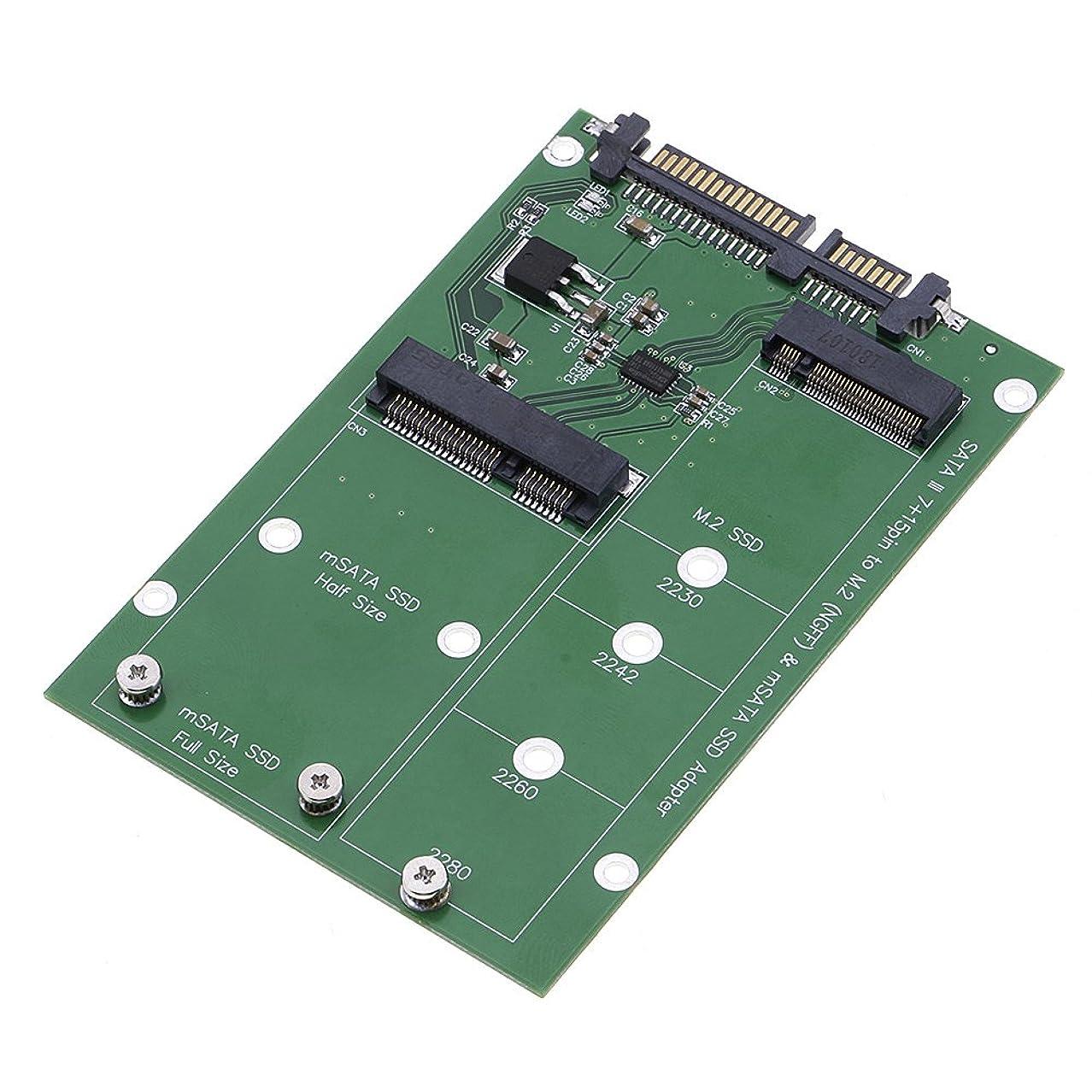 製作灰珍味M.2 NGFF/mSATA SSDからSATA3 mSATAソリッドステートハードディスク変換アダプタカード