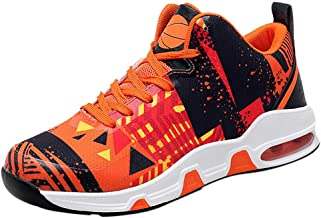 Men's Wear-Resistant Breathable Non-Slip Outdoor Sports Basketball Shoes Trekking Hiking Anti-Skid Shoes for Men
