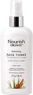 Nourish Organic   Refreshing Skin Toner - Aloe & Witch Hazel   GMO-Free, Cruelty Free, 100% Vegan (3oz)