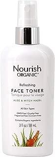 Nourish Organic Refreshing & Balancing Face Toner, Rosewater and Witch Hazel, 3 Ounce