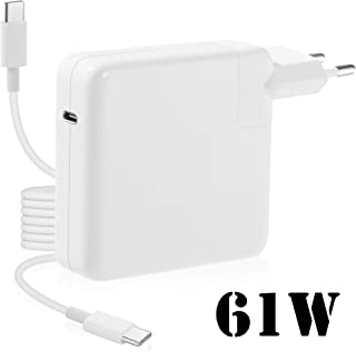 61w USB-C Power Adapter Mac Charger Compatible con Macbook Pro Mac Thunderbolt Charger de 13 Pulgadas,Cargador de Pared Tipo C PD para el Nuevo Macbook Air 2019,Matebook,iPad Pro