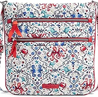 Vera Bradley Iconic Triple Zip Hipster Crossbody in Sea Life Signature Cotton