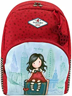 Mochila Escolar Doble Gorjuss - My Story Con Adaptador Para Carro