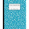 Primary Composition Book: Nifty Primary Story Journal | Dotted Midline & Picture Space | Pretty Grades K-2 School Exercise Book | 100 Story Pages | Awesome Deep Bright Blue Composition Pattern