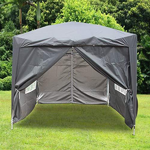 Greenbay 2.5x2.5M Pop-up Gazebo Outdoor Garden Party Tent Folding Gazebo with 4 x Sidewalls | 4 x Leg Weight Bags | Carrying Bag | Anthracite