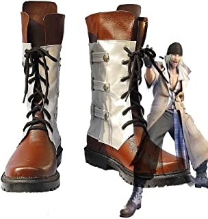 Telacos Final Fantasy XIII FF13 Neve Villiers Cosplay Scarpe Stivali Su Misura
