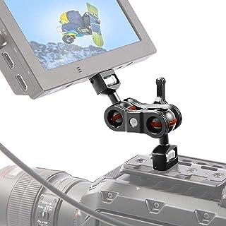 Cabeza de Bola Doble Multifuncional 1/4  Adaptador de Montaje en Brazo mágico Accesorio de cámara para cámara DSLR Monitor/DV Monitor/LED Flash Light
