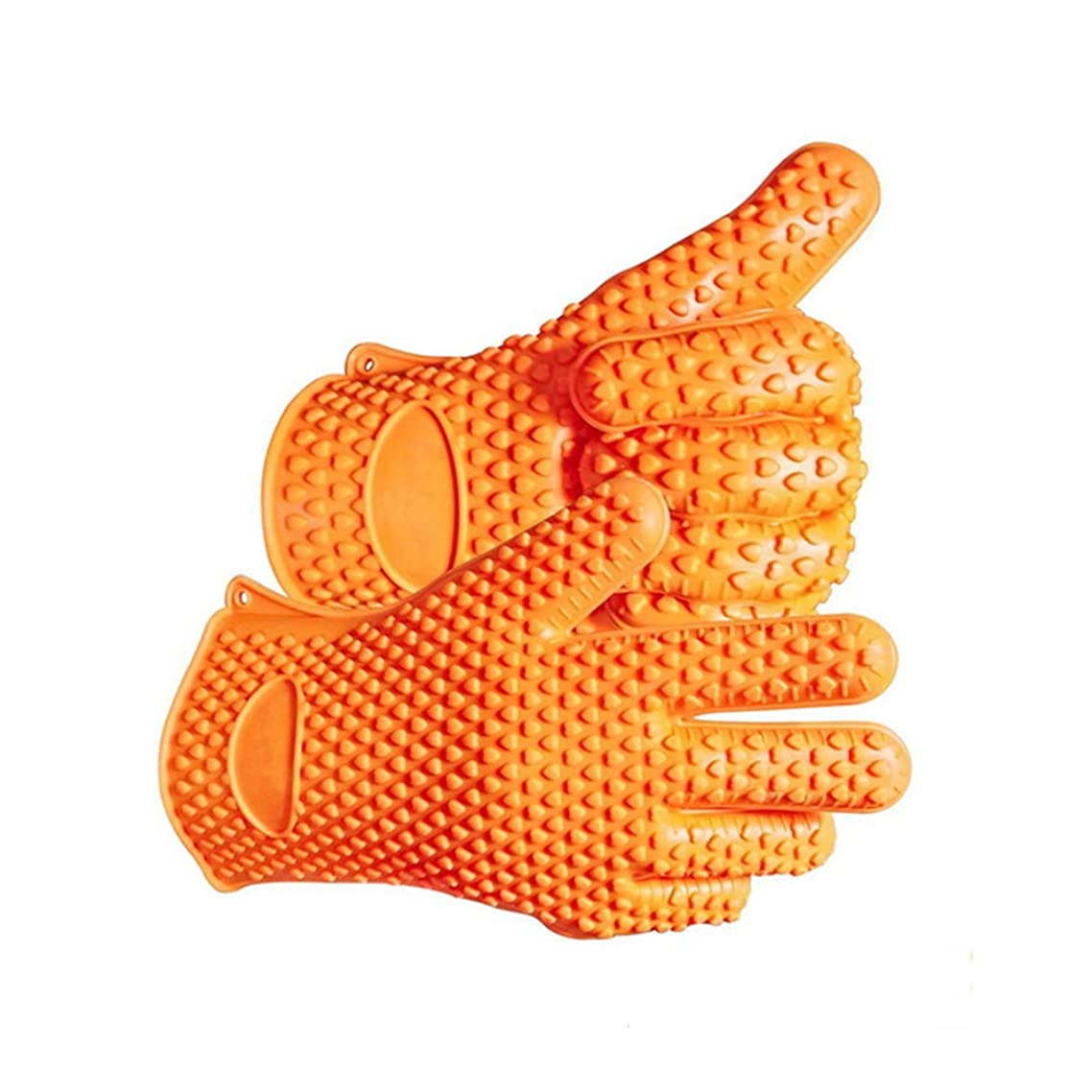BBQ Gloves, BBQ Accessory Five Fingers Heat Resistant 1Pair Multifunctional Perfect for Grilling/Cooking