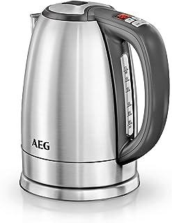comprar comparacion AEG EWA7700 Hervidor de Agua Serie 7, 2200W, 13 Niveles de Temperatura hasta 100ºC, Capacidad de 1.7L, Display LCD, Funció...