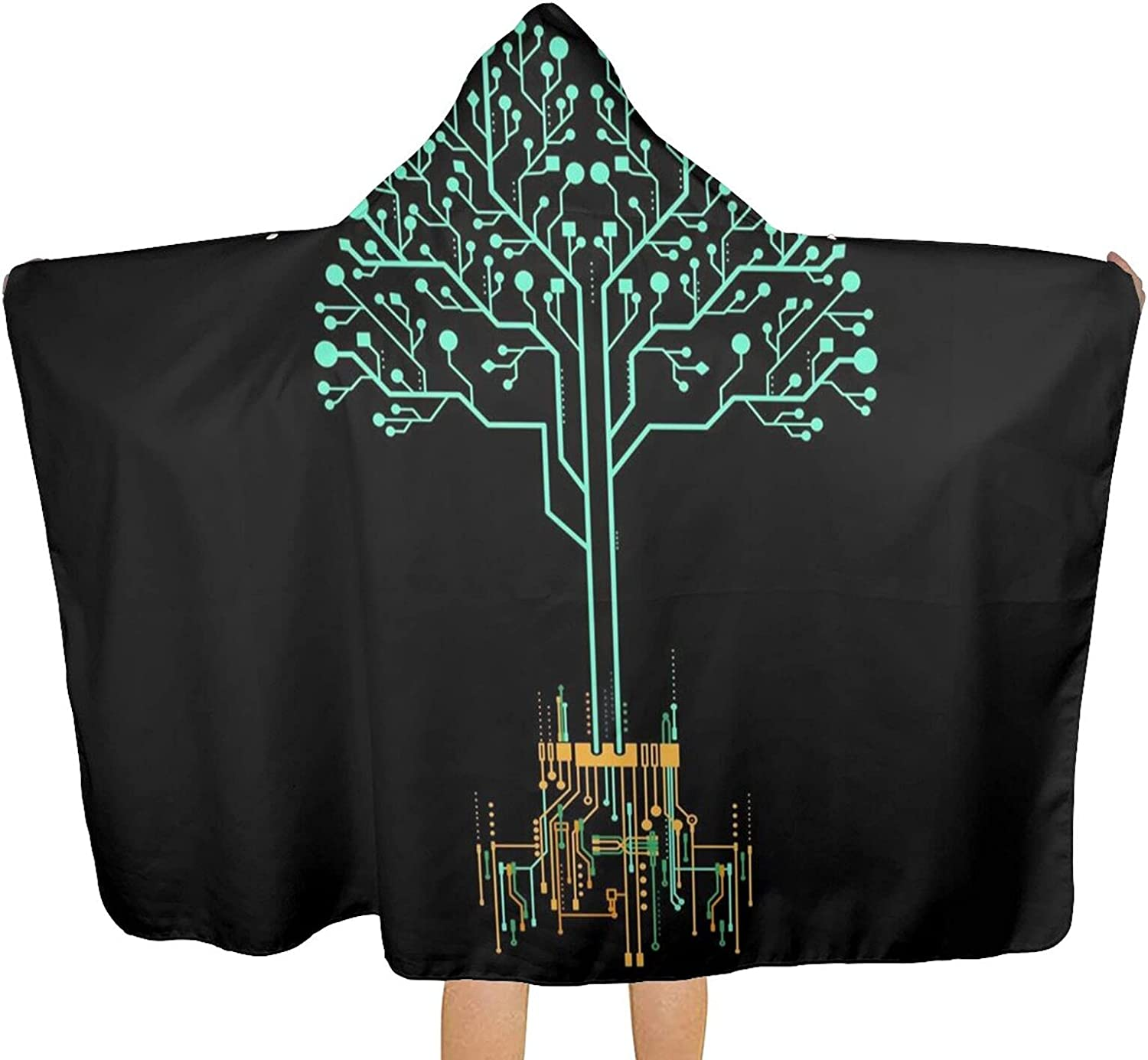 MESCCHSK Magical Green Tree Printed Beach T Hood Bath with Outstanding Towel Raleigh Mall