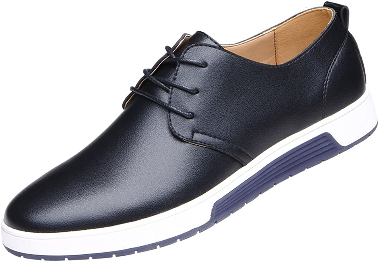 QCO Men's Classic Modern Oxford Wingtip Lace Black Dress shoes 11