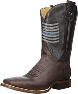 ROPER Men's Thin Blue Line Western Boot Square Toe - 09-020-8252-0880 Br