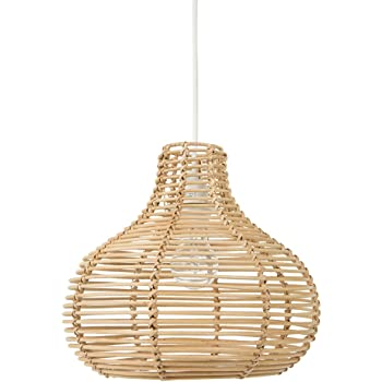 Kouboo Continuous Weave Horizon Wicker Lamp, Small, Natural
