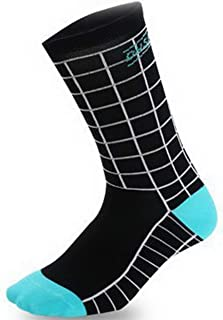 Calcetines de longitud media Calcetines de ciclismo Calcetines deportivos de ciclismo Correr Baloncesto Calcetines de tubo de absorción de sudor Calcetines de compresión-Negro-Blanco