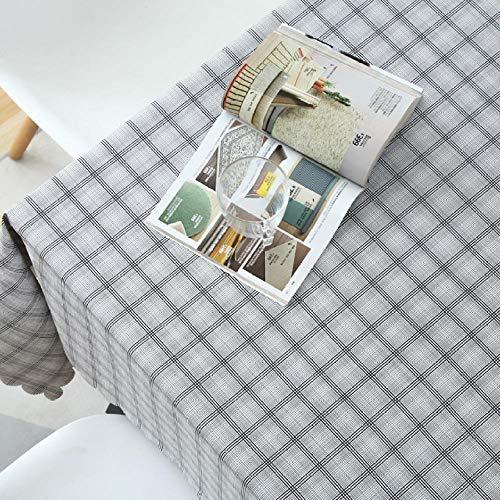 YUQIBXC Mantel plastificado rectangular plastificado mantel de mesa rectangular impermeable de PVC antiaceite antipolvo fácil de limpiar