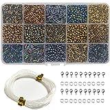 Ewparts DIY Beads Kits para hacer joyas - Cuentas de artesanía para niños, Baby Girl gifts Set de cuentas de perlas, collares Llaveros (chapado)